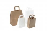 Papirsbærepose brun 17L 350/170x245mm 200stk/pak
