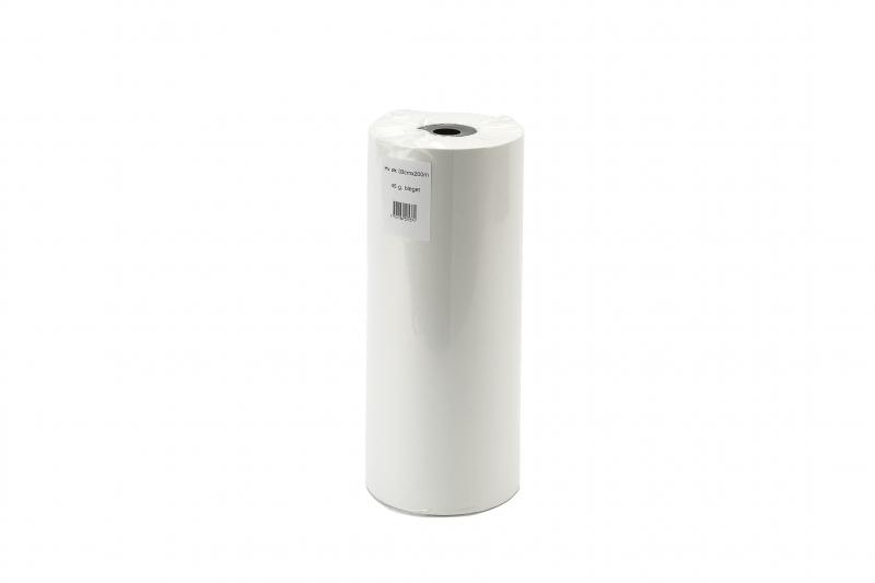 Billede af Indpakningspapir hvid m/paprør 33cmx400mx45g