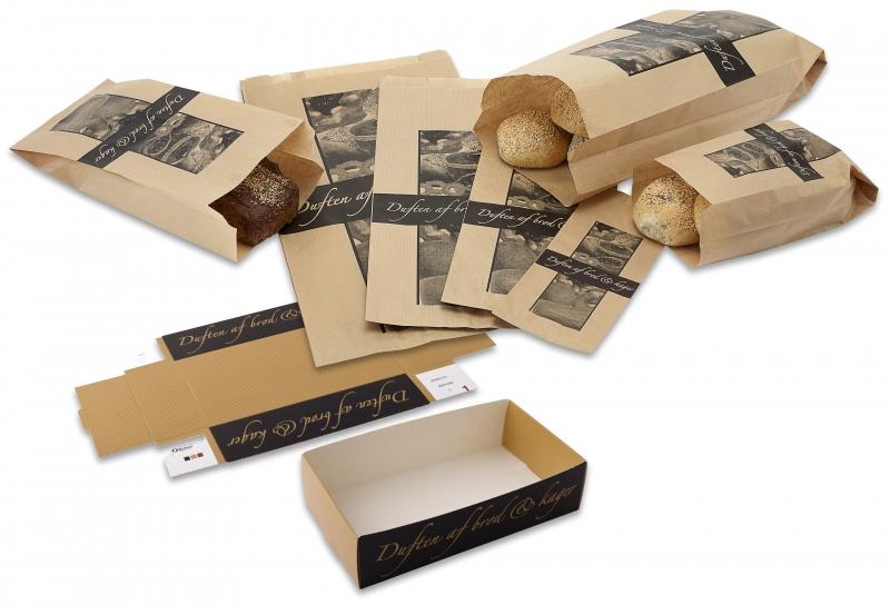 Billede af Bagerpose m/sidefals lille Duften af brød & kager 1000stk