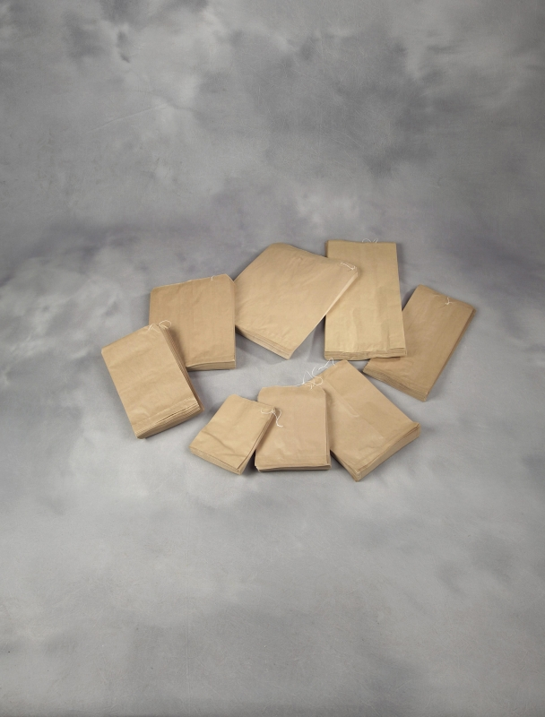Image of   Papirpose m/sidefal 1,5kg brun 120/90x270mm 1000stk/pk m/snor