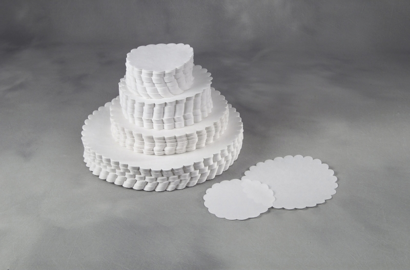 Image of   Fadpapir præget 29cm rund 500stk/pak