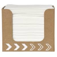 Servietdispenser, Dunisoft, 20x20cm, hvid, papir, lille, med servietter *Denne vare tages ikke retur*