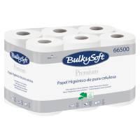 Toiletpapir, Bulkysoft, 2-lags, 24m x 9cm, Ø10cm, hvid, 100% nyfiber