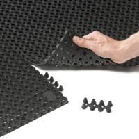 Skrabemåtte, Notrax Oct-O-Flex, 1,5x1m x 1,3cm, sort, gummi *Denne vare tages ikke retur*