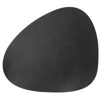 Dækkeserviet, Duni, 44x37cm, sort, læder *Denne vare tages ikke retur*