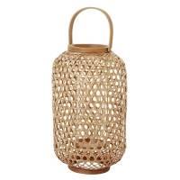 Lanterne, Duni Area, 23x40cm, brun, bambus/glas/metal *Denne vare tages ikke retur*