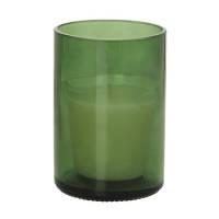 Glaslys, Duni Aware, 11,9cm, Ø8,3cm, bottle grøn, 30 timer, glas, til switch & shine refill *Denne vare tages ikke retur*