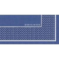 Stikdug, Dunisilk Santorini, 84x84cm, blå *Denne vare tages ikke retur*