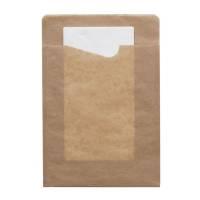 Bestiklomme, Duni Sacchetto, 21x14,3cm, craft, papir, med hvid serviet *Denne vare tages ikke retur*