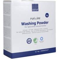 Vaskepulver, Abena Puri-Line, hvid vask, uden farve og parfume, 4,3 kg