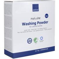 Vaskepulver, Abena Puri-Line, kulørtvask, uden farve og parfume, 4,3 kg