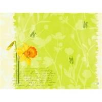 Dækkeserviet, Dunicel Spring Flowers, 40x30cm, kiwi *Denne vare tages ikke retur*