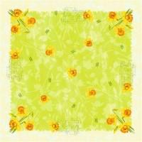 Stikdug, Dunicel Spring Flowers, 84x84cm, kiwi *Denne vare tages ikke retur*