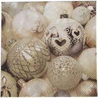 Kaffeserviet, Trendy Christmas, 3-lags, 1/4 fold, 25x25cm, flerfarvet, papir *Denne vare tages ikke retur*
