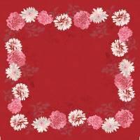 Stikdug, Dunicel Autumn Floral, 84x84cm, bordeaux *Denne vare tages ikke retur*