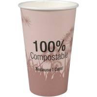 Kaffebæger, Abena Gastro-Line, Dandelion, 13,5cm, Ø9cm, 48 cl, 49 cl, flerfarvet, CPLA/pap, 16 oz, komposterbar