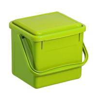 Bio affaldsspand, Rotho, 21x20x18cm, 4,5 l, limegrøn, plast, med lufttæt låg, plasthank