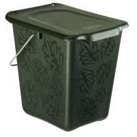 Bio affaldsspand, Rotho Greenline, 26x20,8x25,2cm, 7 l, mørkegrøn *Denne vare tages ikke retur*