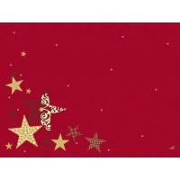 Dækkeserviet, Dunicel Walk of Fame, 40x30cm, rød