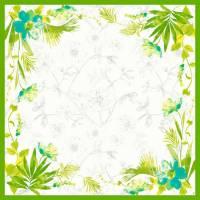 Stikdug, Dunicel Summertime Blue, 84x84cm, grøn *Denne vare tages ikke retur*