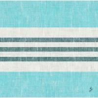 Middagsserviet, Dunisoft Raya, 1/4 fold, 40x40cm, blå *Denne vare tages ikke retur*