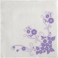 Frokostserviet, Anemone, 1-lags, 1/4 fold, 33x33cm, lavendel, nyfiber