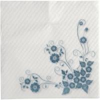Frokostserviet, Anemone, 1-lags, 1/4 fold, 33x33cm, blå, nyfiber