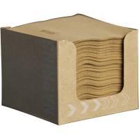 Servietdispenser, Dunisoft, 20x20cm, brun, papir, lille model, inkl. servietter *Denne vare tages ikke retur*
