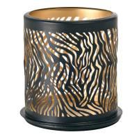 Lysestage, Duni Safari, 7,5x7,5cm, metal, Zebra *Denne vare tages ikke retur*