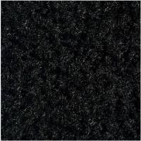 Tekstilmåtte, Kleen-tex Monotone, Raven Black, 2500x1500mm, sort, nitril/nylon, med bagside og kanter