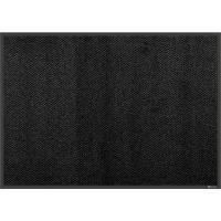 Tekstilmåtte, Kleen-tex IronHorse XL, Ebony, 850x600mm, sort, PA/nitril/nylon, med bagside og kanter