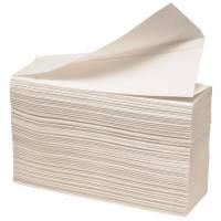 Håndklædeark, 2-lags, Z-fold, 24x23cm, 8 cm, hvid, 100% nyfiber