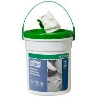 Overfladedesinfektion, Tork Wet Wipe, 15,7m x 13,5cm, Ø12,5cm, hvid, polyester/viskose, uden parfume *Denne vare tages ikke retur*