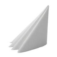 Middagsserviet, Dunilin, 1/4 fold, 48x48cm, hvid