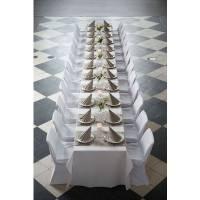 Middagsserviet, Dunilin, 1/4 fold, 40x40cm, grå *Denne vare tages ikke retur*