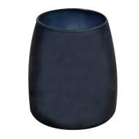 Lysbowle, Spaas, Ø9,5cm, mørkeblå, 50 timer, paraffin/glas, 100% paraffin, i frosted glas