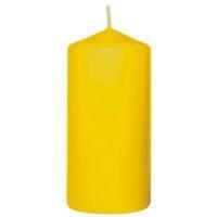 Bloklys, 10cm, Ø5cm, gul, 20 timer, 100% paraffin *Denne vare tages ikke retur*