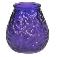 Lysbowle, Bolsius, 10,5cm, Ø9,5cm, lilla, 70 timer, paraffin/glas, 100% paraffin, i glasbowle