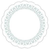 Kopunderlag, 7-lags, Ø9cm, hvid, papir