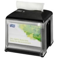 Servietdispenser, Tork Expressnap N10 , 15,9x15,9x16,5cm, sort, plast