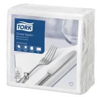 Middagsserviet, Tork Advanced, 2-lags, 1/4 fold, 40x40cm, hvid, 100% nyfiber *Denne vare tages ikke retur*