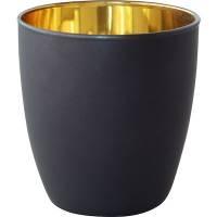 Lysestage, Duni Poppie, 9cm, Ø7,5cm, guld, til fyrfadslys *Denne vare tages ikke retur*