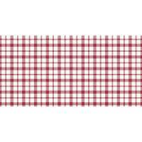 Stikdug, Dunisilk Giovanni, 84x84cm, rød, ternet *Denne vare tages ikke retur*