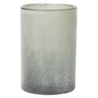 Glaslysestage, Duni Ice, 12cm, Ø7,5cm, sort, glas *Denne vare tages ikke retur*