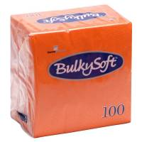 Frokostserviet, Bulkysoft, 2-lags, 1/4 fold, 33x33cm, orange