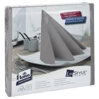 Middagsserviet, Tork Linstyle, 1/4 fold, 39x39cm, grå, 100% nyfiber *Denne vare tages ikke retur*