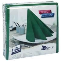 Middagsserviet, Tork Linstyle, 1/4 fold, 39x39cm, mørkegrøn, 100% nyfiber *Denne vare tages ikke retur*
