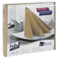 Middagsserviet, Tork Linstyle, 1/4 fold, 39x39cm, sand, 100% nyfiber *Denne vare tages ikke retur*