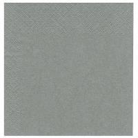 Middagsserviet, Bulkysoft, 3-lags, 1/4 fold, 40x40cm, grå, 100% nyfiber