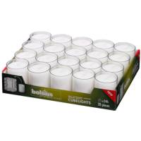 Refill, Bolsius, 6,5cm, Ø5,2cm, hvid, 24 timer, 100% paraffin, til Relight Oval
